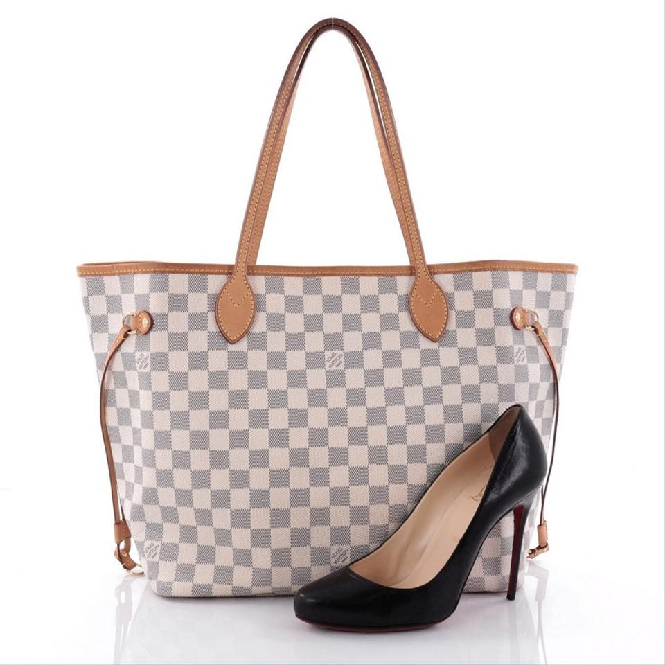 louis vuitton beige canvas neverfull tote tradesy. Black Bedroom Furniture Sets. Home Design Ideas