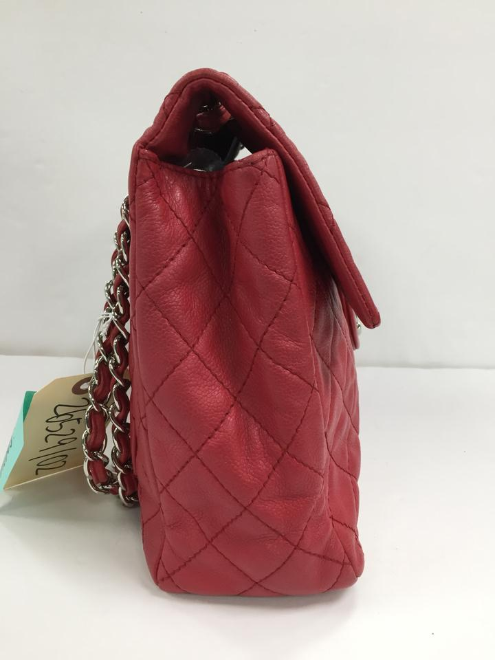 49b35b1bf79aee Chanel Classic Flap Classic Soft Quilted Maxi Red Caviar Shoulder Bag -  Tradesy