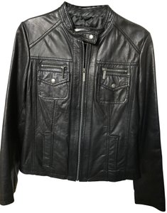 MICHAEL Michael Kors Leather Motorcycle Jacket