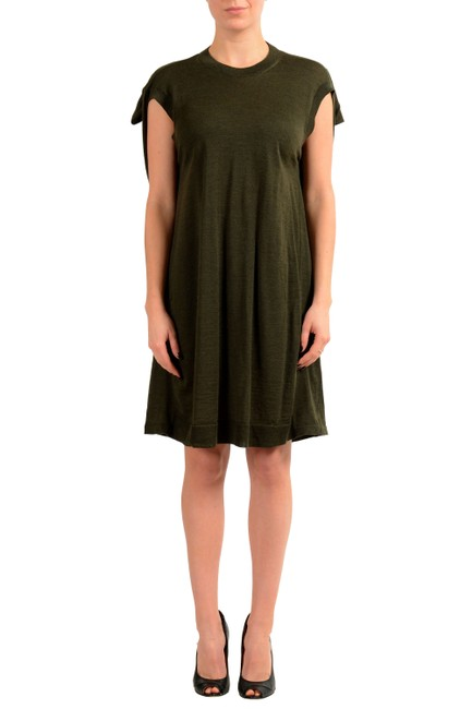 Maison Margiela Green V-8213 Short Casual Dress Size 8 (M) Maison Margiela Green V-8213 Short Casual Dress Size 8 (M) Image 1