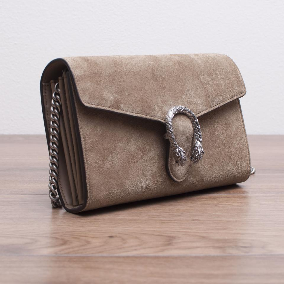 0ad3d2a296d Gucci Dionysus New Suede Mini Chain In Taupe Cross Body Bag - Tradesy