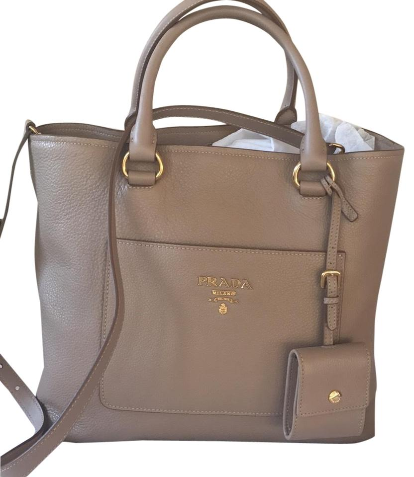 9fb3ec02e054d4 Prada Vitello Daino Bag Large North-south Calfskin Leather Tote ...