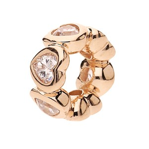 PANDORA Space In My Heart Spacer, PANDORA Rose & Clear CZ