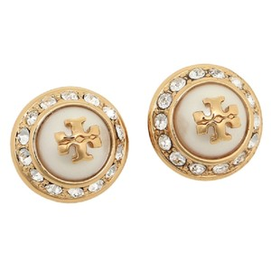 Tory Burch Tory Burch 41445502 Womens Natalie Domed Logo Earrings