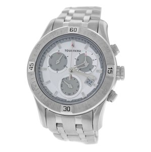 Tourneau Authentic Mens Tourneau Corporate Collection 42MM Steel Quartz Chrono