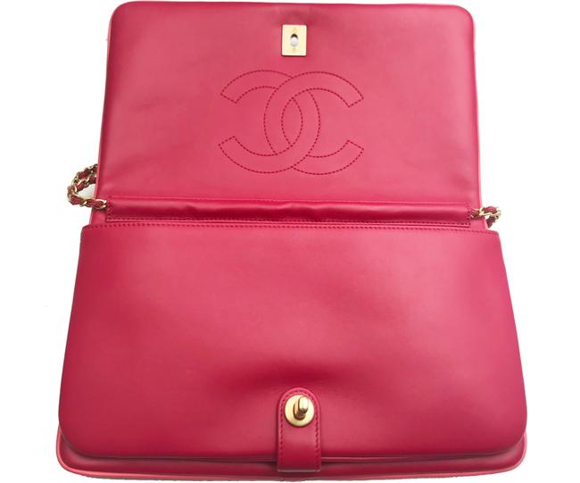 Chanel Crossbody Camellia Red Burgundy Leather Velvet Clutch Chanel Crossbody Camellia Red Burgundy Leather Velvet Clutch Image 5