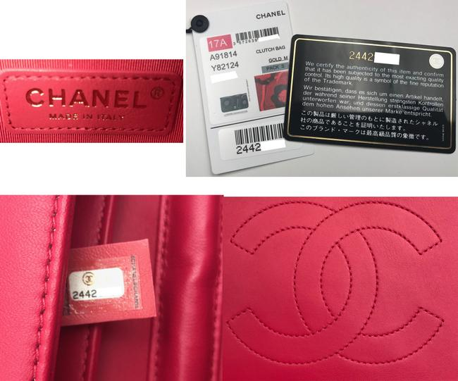 Chanel Crossbody Camellia Red Burgundy Leather Velvet Clutch Chanel Crossbody Camellia Red Burgundy Leather Velvet Clutch Image 7