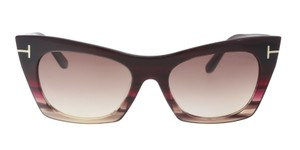 f5ff420fffd Tom Ford Tom Ford FT0459S 71F Kasia Plum Brown Cateye Sunglasses NEW!