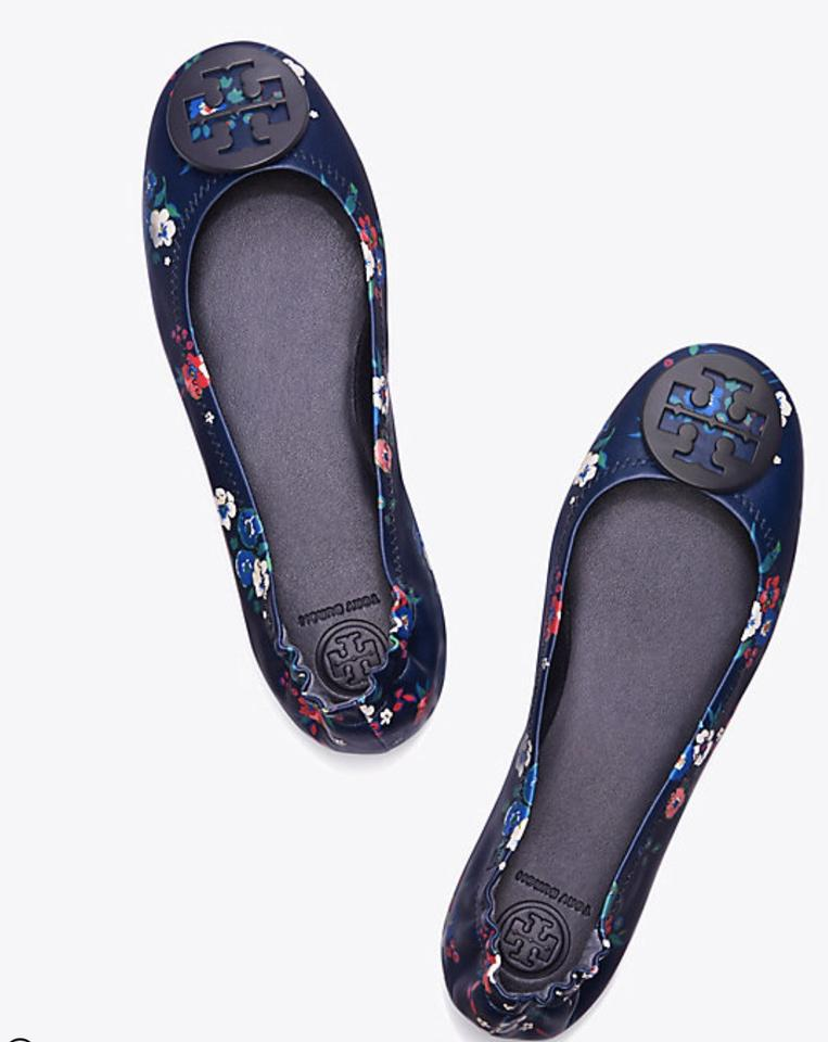 5aedb1ef7 Tory Burch Pansy Bouquet Minnie Travel Ballet Printed Leather Packable Flats