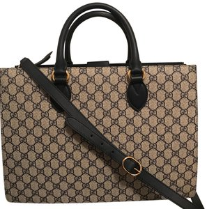 Gucci Monogram Logo Canvas Satchel