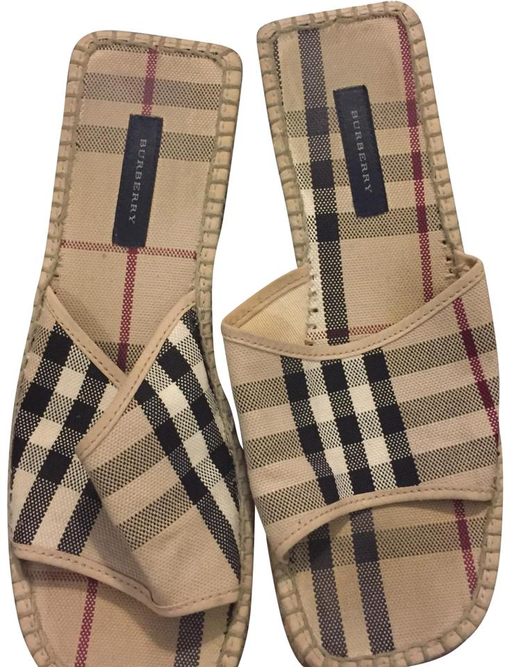 WOMENS Plaid Burberry Plaid WOMENS 21535764 Mules/Slides Immediate delivery b1a1a8