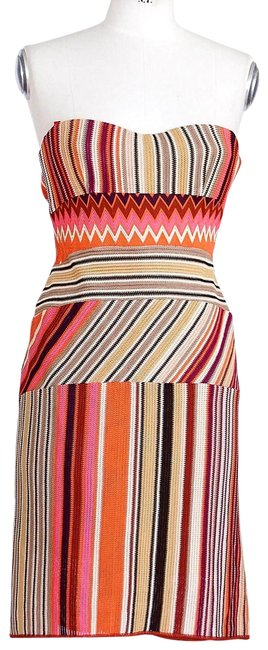 Item - Multicolor Strapless Stunning Knit Rear Fishtail 42 / Mid-length Short Casual Dress Size 6 (S)