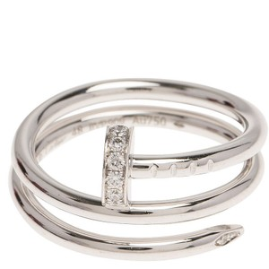Cartier White Gold & Diamond Juste Un Clou Double Wrap Ring