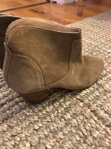H by Hudson Classic Stiching Brown Tan Suede Boots
