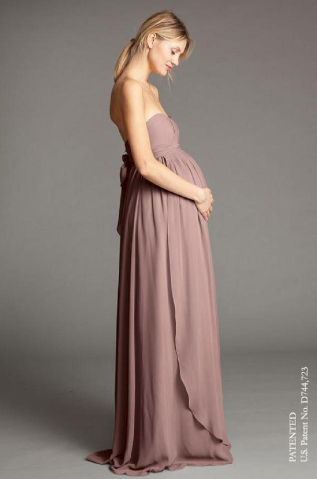 f2d08184f108 Jenny Yoo Pecan Luxe Chiffon Cerise Maternity (Style 1484) Formal Bridesmaid/Mob  Dress ...