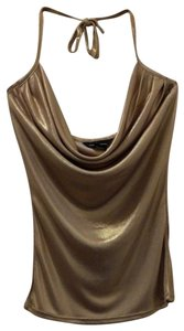 Moda International Gold shimmer Halter Top