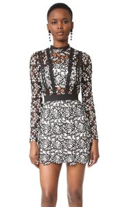 self-portrait Lace Antoinette Mini Floral Dress