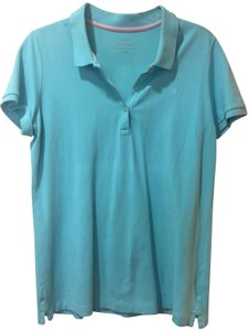 Lilly Pulitzer Blue Polo Sleeve T Shirt Turquoise