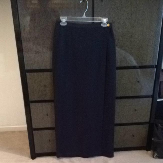 Jones New York Navy Blue Long Wraparound Skirt