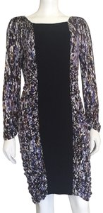 BCBGMAXAZRIA Ruched Bodycon Fitted Party Figure Flattering Dress