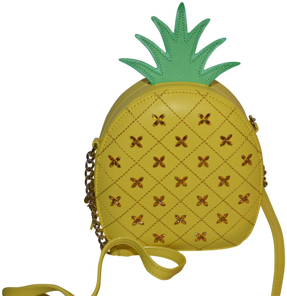 5dffbb24edc5 Kate Spade How Refreshing Pineapple Purse Yellow Green Multi Leather ...
