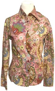 Etro Paisley Button Down Shirt Pink & Multicolored