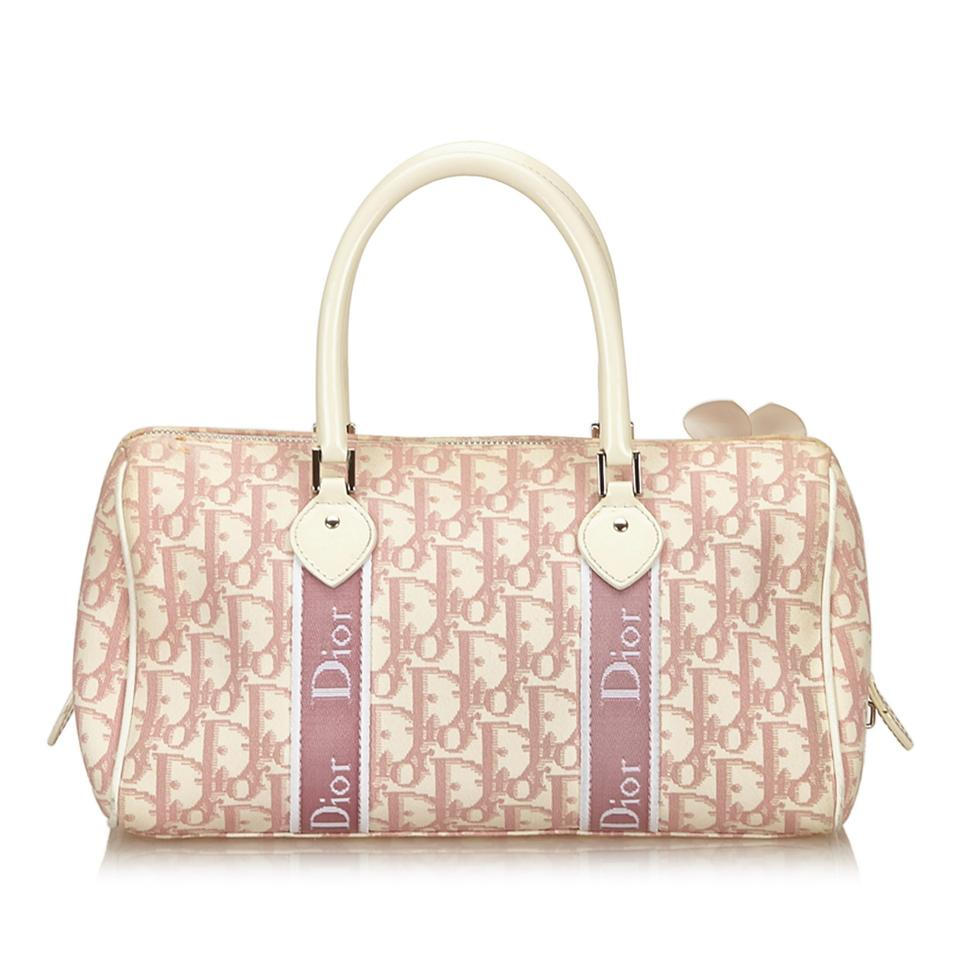 4e45d23d7a Dior Oblique Trotter Handbag Pink Plastic X Pvc X Leather X Others ...