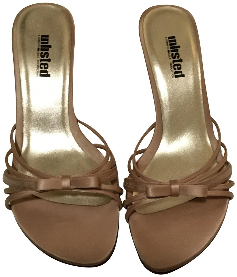 Unlisted by Kenneth Cole Pink Mules/Slides /Salmon New Bow Formal Mules/Slides Pink 5f60d9