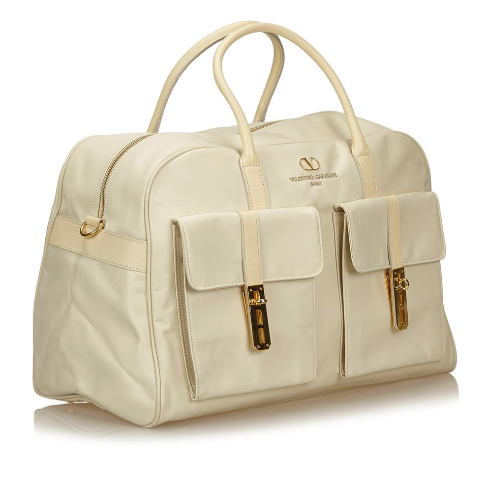 929f8b05d25 Valentino Duffel White Fabric X Nylon X Leather X Others Weekend ...