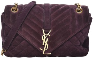 Saint Laurent Matelasse Quilted Monogram Ysl Chain Shoulder Bag