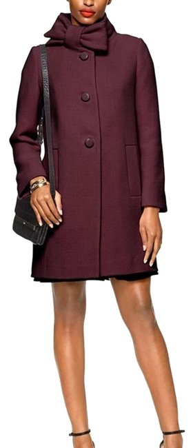 Item - Burgundy/ Red /Wine Wool Bow Coat Size 6 (S)