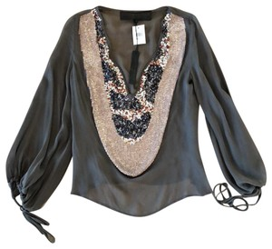 Leyendecker Top Mink, gold, black