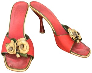 Chanel Golden Tab Signature Camellia Sandals Black Mules