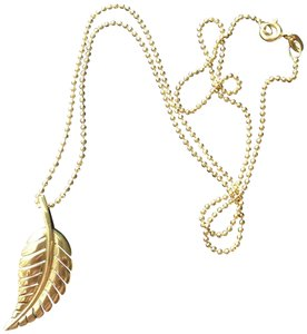 Jennifer Meyer Jewelry Jennifer Meyer Gold Leaf Pendant Necklace