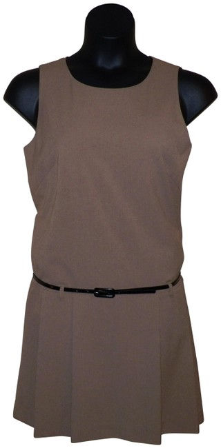 Item - Cinnamon Brown Belted Shift Short Casual Dress Size 10 (M)