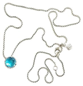 "David Yurman GORGEOUS!! David Yurman Blue Topaz Faceted ""Chatelaine"" Necklace"