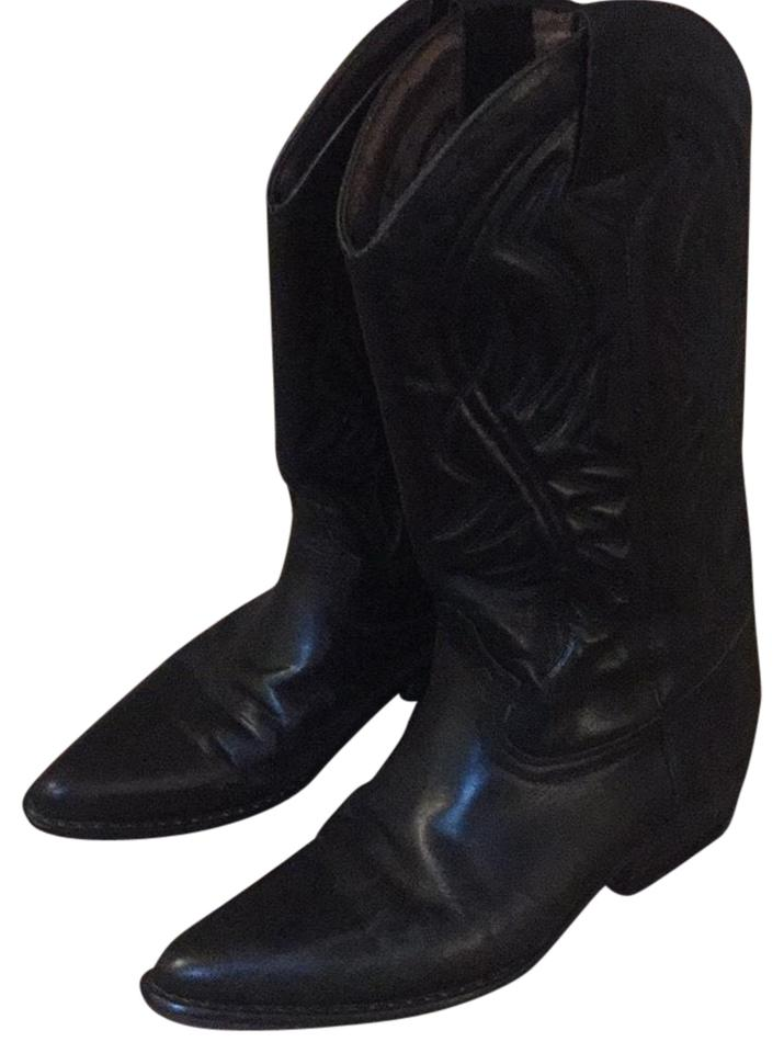 65ce28a4d80 Guess By Marciano Black Leather Cowboy Boots/Booties Size US 7 Regular (M,  B) 66% off retail