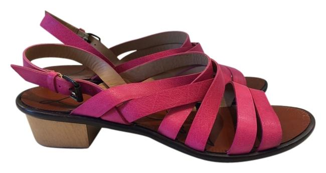Item - Pink Leather Sandals Size US 8.5 Regular (M, B)