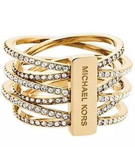 Michael Kors Michael Kors MKJ4422 710 Women's Brilliance Statement Gold Tone Ring