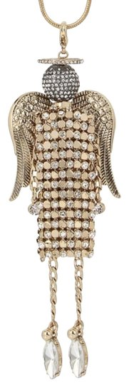 Preload https://item1.tradesy.com/images/betsey-johnson-two-tone-pave-mesh-angel-pendant-necklace-22694325-0-2.jpg?width=440&height=440