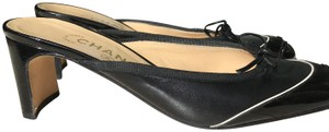 Chanel Patent Leather Womens Black Mules