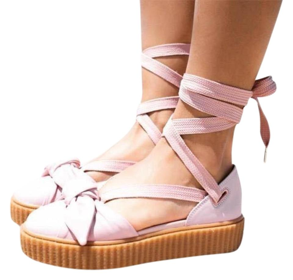 size 40 a615e 8247a Pink Bow Creeper Sandals