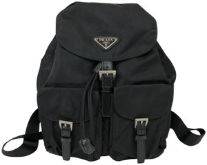 Prada Nylon Nylon Vela Backpack