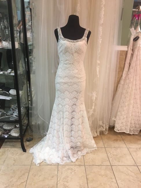 Allure Bridals Ivory/Gold Charmeuse 9170 Formal Wedding Dress Size 6 (S) Allure Bridals Ivory/Gold Charmeuse 9170 Formal Wedding Dress Size 6 (S) Image 1