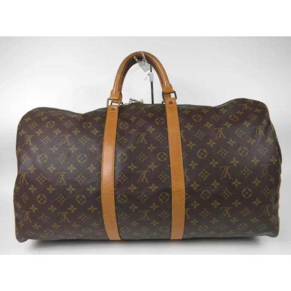 louis vuitton keepall 55 weekend travel bag tradesy. Black Bedroom Furniture Sets. Home Design Ideas