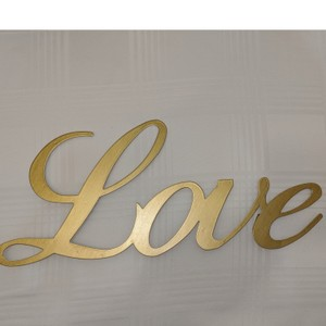 """Michaels Gold Metal """"Love"""" Wall Sign Reception Decoration"""