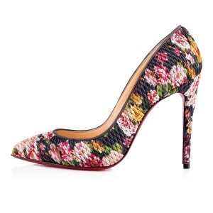 Christian Louboutin Pigalle Follies Stiletto Floral Classic blue Pumps