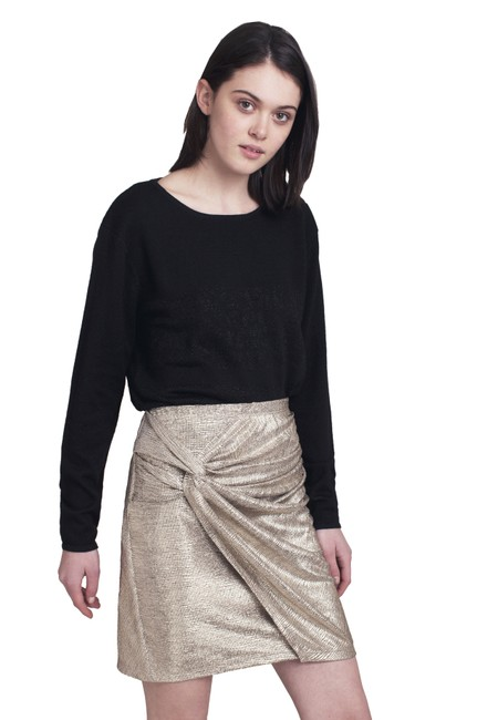 Item - Gold Adna Metallic Skirt Size 4 (S, 27)