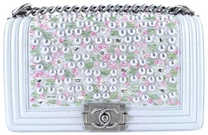 Chanel Tweed Pearl Caviar Limited Edition Cross Body Bag