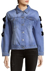 Endless Rose Olivia Palermo Lace Up Zara Womens Jean Jacket